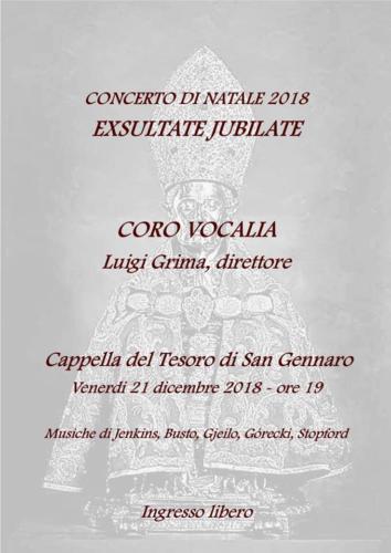 Exsultate Jubilate - Concerto di Natale (21/12/18)