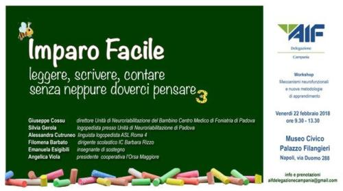 "Workshop ""Imparo Facile"" - Museo Filangieri (22/2/2019)"