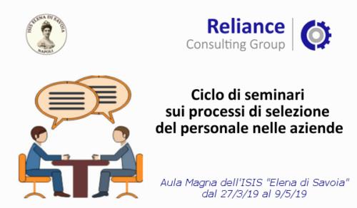 Seminari Reliance (27/3/2019-9/5/2019)