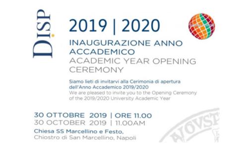Inaugurazione Anno Accademico - Dipartimento di Scienze Politiche (30/10/2019)