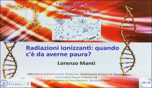 """Seminario: """"Le radiazioni ionizzanti: quando c'è da averne paura?"""" (16/01/2020)"""