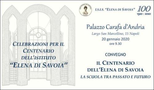 Convegno Centenario dell'Elena di Savoia (20/01/2020)