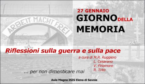 Giorno della Memoria – Riflessioni@ElenaDiSavoia (27/01/2020)