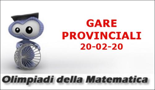 Olimpiadi della Matematica - Gara Provinciale (20/02/2020)