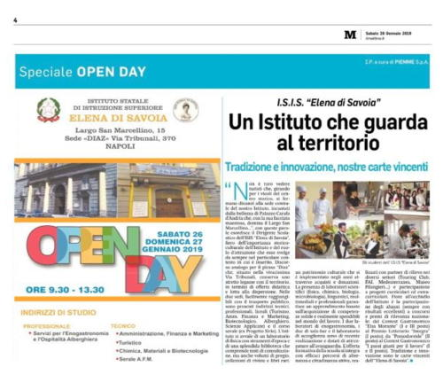 Open Day (26/1/2019)