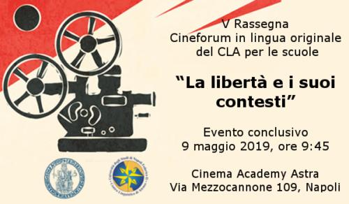 CLA - Cineforum in lingua inglese - La libertà e i suoi contesti (9/5/2019)