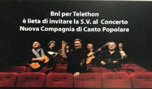 Telethon BNL - Concerto NCCP (21/5/2019)