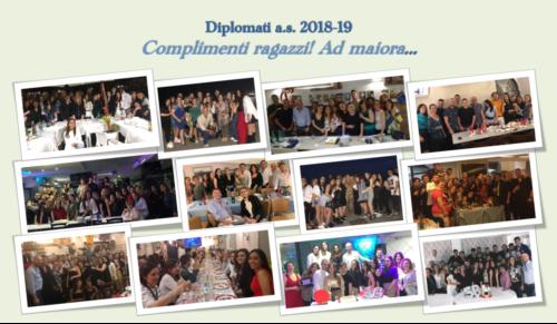 Congratulazioni ai nostri diplomati dell'a.s. 2018/19
