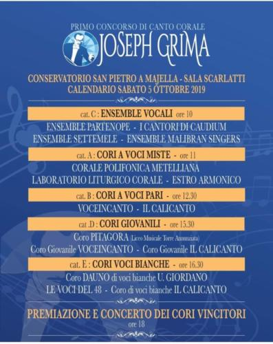 Concerto in ricordo di Joseph Grima (3/10/2019)