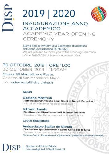 Inaugurazione Anno Accademico Università Federico II di Napoli (30/10/2019)