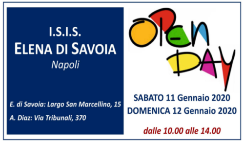 Open Day (11-12/01/2020)