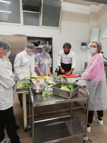 Tortino di riso con verdure bardato con porro stufato (11/2/21)